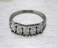 Beautiful 1.50Ctw Oval Diamond Women's Wedding Band Ring 14K White Gold Finish