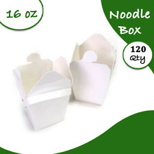 White Noodle Boxes Cardboard 16 Oz 120 pc Medium Party Noodle Box Bulk
