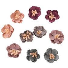 10x Sewing Fabric Flower Embellishment Dress Applique Hair Bow Decoration #2