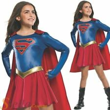 Girls Supergirl TV Series Costume Superhero Fancy Dress Outfit
