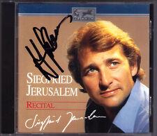 Siegfried JERUSALEM Signiert RECITAL Fidelio Oberon Der Freischütz Rienzi RCA CD