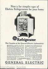 1927 General Electric Refrigerator advertisement, early MONITOR-TOP fridge, GE