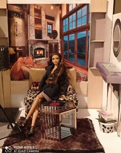 Fashion Royalty, Poppy Parker, Barbie Doll 12' Chalet Living Room!!
