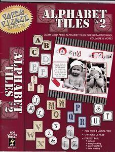 Alphabet Tiles #2 - Paper Pizazz Book