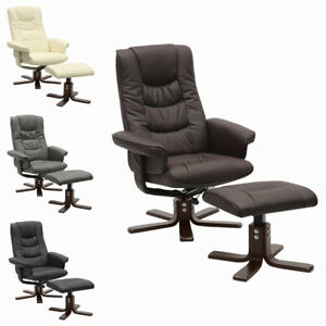 TV Armchair Recliner Swivel Office Chairs Lounger with Footstool Reclining Sofa