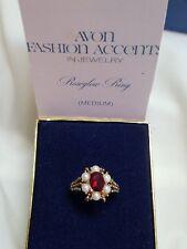 Vintage 1973 Avon NOS Roseglow Ring in Box