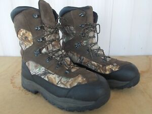 """GANDER MTN Men's 11"""" Camo WaterProof Thinsulate Ultra HUNTING Boots size 11-1/2M"""