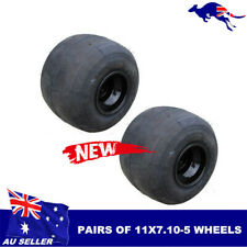 "Pair 11x7.10-5 Go Kart Rear Wheel 5"" Super Slick Gokart Drift Trike Racing Buggy"