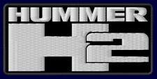 """HUMMER H2 EMBROIDERED PATCH ~4-1/8"""" x 2-1/8"""" AUTO MILITARY JEEP HUMVEE SUV V8"""