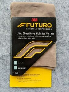 3M Futro Woman's Ultra Sheer Knee Length Stockings Size Large, Moderate Compress