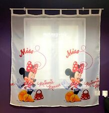 Disney Tab Top Voile Net Curtain -MINNIE MOUSE IN RED- 225cm width x 152 cm drop