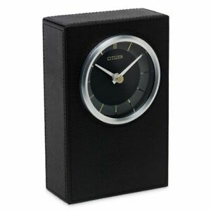 New Citizen Black Leather Desk Shelf Decorative Modern Clock Model CC1014