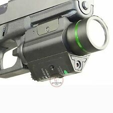 Combo Tactical CREE Flashlight Green Laser Sight Weaver Rail For Pistol Glock US