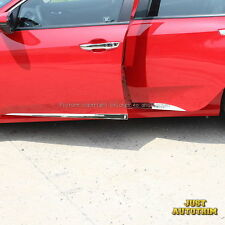 Chrome steel Steel Body Door Side Molding Cover Trim for 2016 2017 Honda Civic