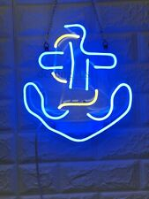 """New Anchor Neon Light Sign 14"""" Lamp Beer Pub Acrylic Real Glass Gift Handmade"""