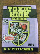TOXIC HIGH SCHOOL  STICKERS 1991 TOPPS COMPANY
