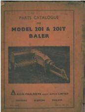 ALLIS Chalmers Baler 201 & 201T PICK UP Baler parti manuale