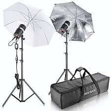 Neewer 400W(200W x 2) Strobe Flash Light Monolight Umbrella Lighting Kit(ST-200)