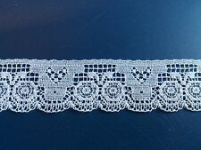20m Pretty White Cotton Lace Little Edging Costume Baby Hats Socks Dressmaking
