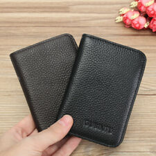 AU Men's RFID Blocking Genuine Leather Money Clip Slim Wallet Credit Card