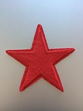 Red Star Patch - Embroidered/Iron/Sew/Stitch/Glue On - Badge Cartoon Happy Fun