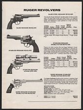 1994 Ruger Blued & Stainless Redhawk and Super Redhawk Revolver Ad