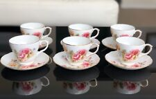Vintage Duchess 6 Rose Tea Cup And Saucer Sets