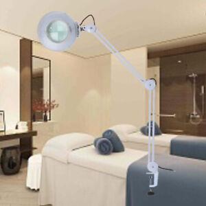 Lupenlampe 8 Dioptrien Kosmetik Vergrößerungslampe LED Tisch-Lupenleuchte DHL