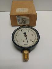 New Old Stock Wika 25 0 15 Psi 14 Brass Pressure Gauge 1131325 9677976