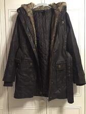 Medium Mango 3 in 1 Dark Brown Shower Resistant Coat Faux Fur Lining