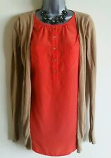Size 8 Top NEXT Brown Orange 2 In 1 Cardigan Great Condition Women's Casual