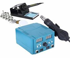 KATSU 852D 2 in 1 Soldering Iron Station Hot Air Gun Rework Station ESD 312080