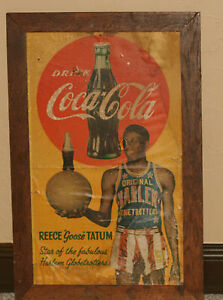 """Early 1950's Reece """"Goose"""" Tatum, Coca Cola Paper or Thin Cardboard Sign"""