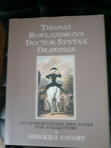 Thomas Rowlandson's Doctor Syntax Drawings Introduction and Guide for Collectors