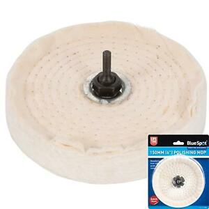Bluespot 150mm Buffing Polishing Cloth Cotton Mop Wheel Pad For Power Drill