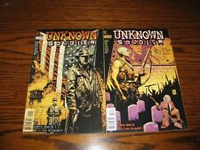 DC - UNKNOWN SOLDIER #1 and #3 Comic Lot!!  Glossy VF+  1997  Garth Ennis