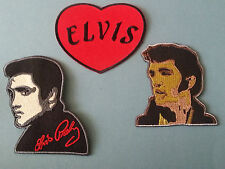 SET OF THREE MUSIC SEW/IRON ON PATCHES:-  ELVIS