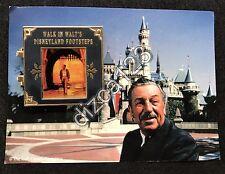 Disney Pin Disneyland Walk in Walt's Footsteps Pin and card -RARE