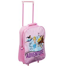 Official Disney Princess Girls Kids Case Luggage Travel Trolley Wheeled Bag
