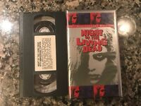 Night Of The Living Dead VHS! Awesome 1968 Horror! See) Dawn Of The Dead