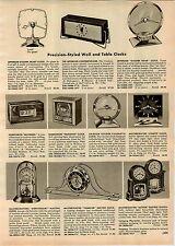 1957 PAPER AD Numechron Belvedere Television Clock Jefferson Golden Hour Secret