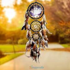 Wolf Style Handmade Dream Catcher Decoration Ornament Feathers Car Wall Hanging