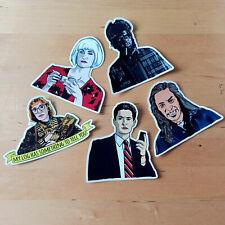 Set of 5 Twin Peaks Vinyl Stickers, UV Inks , Waterproof, High Gloss, Cult TV