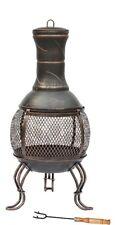 LARGE 89 x 39cm Steel Chiminea Fire Pit Outdoor Garden Patio Heater BBQ UK STOCK