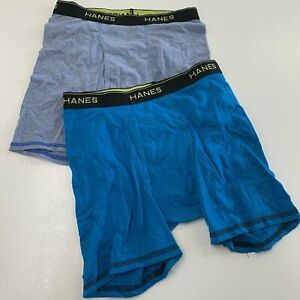 HANES Size XL Youth Boys' Boxer Briefs NEW, NOT IN PACKAGE 2 Pack Multicolor