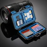 Waterproof Memory Card Storage Slots Box Case Holder for TF/CF/SD Anti-shock