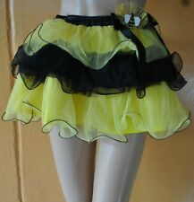 NWT $29.99 MAKER'S HALLOWEEN CHILD'S BUMBLEBEE TUTU SKIRT - Ages 3 & up OSFM