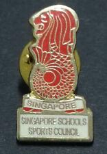 Singapore Schools Sports Council Red Merlion Pin Badge (B279)