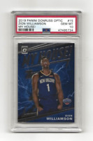 ZION WILLIAMSON RC 2019-20 PANINI OPTIC MY HOUSE! ROOKIE #15 PSA 10 GEM MINT