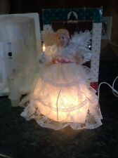 Vintage Christmas Tree Topper ANGEL Figure Lighted,animated,motionette,lace,11""